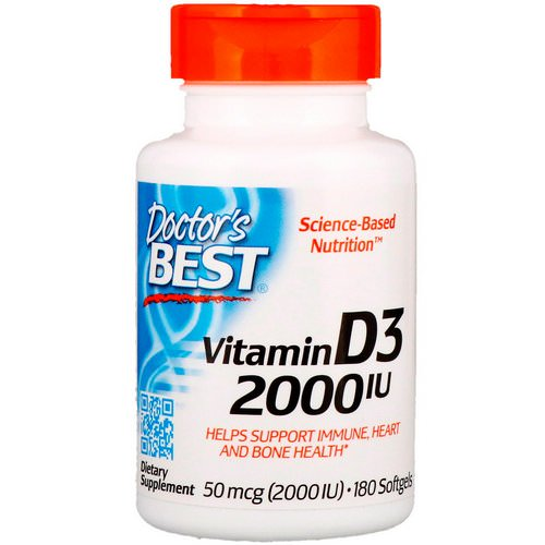 Doctor's Best, Vitamin D3, 50 mcg (2,000 IU), 180 Softgels Review