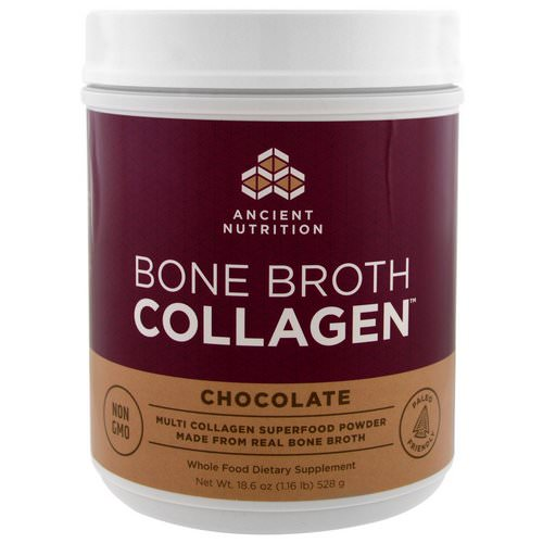 Dr. Axe / Ancient Nutrition, Bone Broth Collagen, Chocolate, 1.16 lbs (528 g) Review
