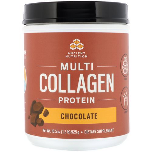 Dr. Axe / Ancient Nutrition, Multi Collagen Protein, Chocolate, 1.2 lbs (525 g) Review