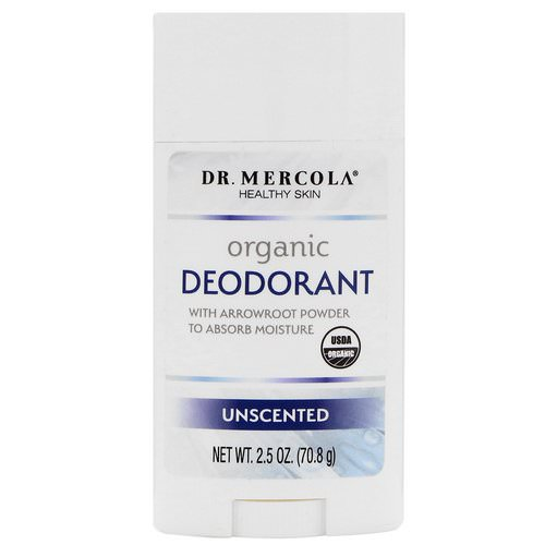 Dr. Mercola, Organic Deodorant, Unscented, 2.5 oz (70.8 g) Review