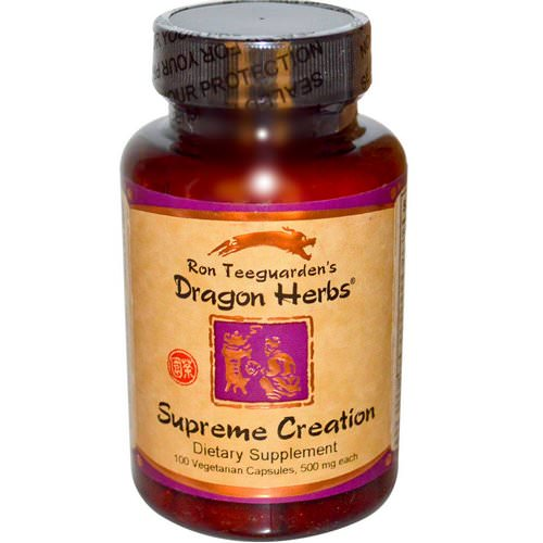 Dragon Herbs, Supreme Creation, 500 mg, 100 Veggie Caps Review