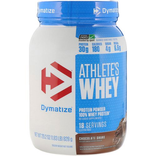 Dymatize Nutrition, Athlete's Whey, Chocolate Shake, 1.83 lb (828 g) Review