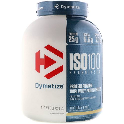 Dymatize Nutrition, ISO 100 Hydrolyzed 100% Whey Protein Isolate, Birthday Cake, 5 lb (2.3 kg) Review