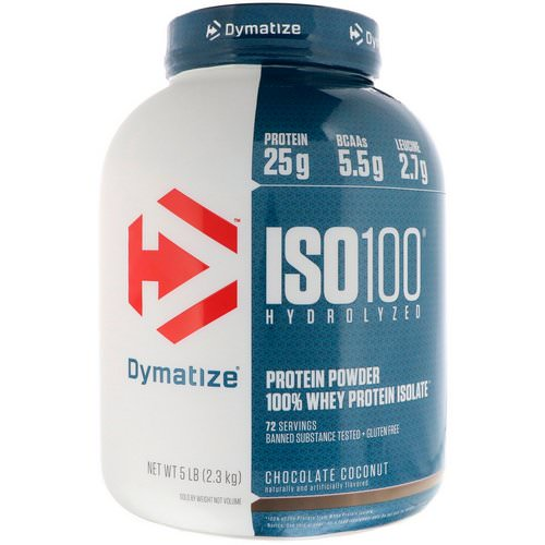 Dymatize Nutrition, ISO 100 Hydrolyzed 100% Whey Protein Isolate, Chocolate Coconut, 5 lb (2.3 kg) Review