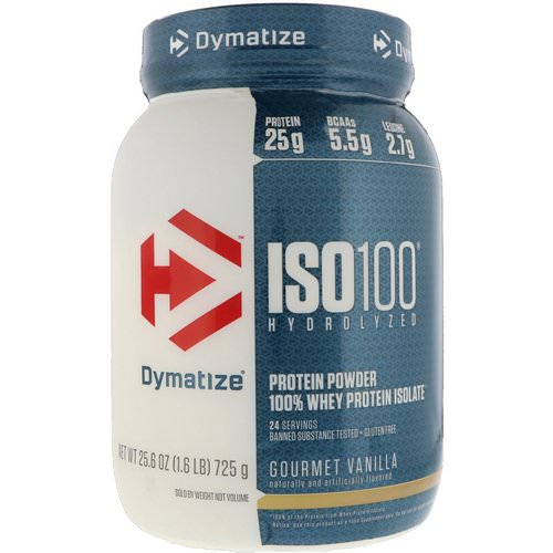 Dymatize Nutrition, ISO 100 Hydrolyzed, 100% Whey Protein Isolate, Gourmet Vanilla, 1.6 lbs (725 g) Review