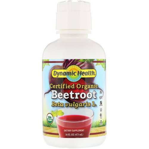 Dynamic Health Laboratories, Certified Organic Beetroot, 16 fl oz (473 ml) Review