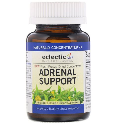 Eclectic Institute, Adrenal Support, 400 mg, 45 Caps Review