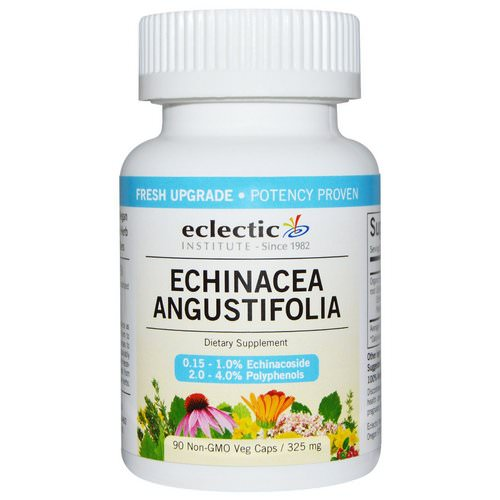Eclectic Institute, Echinacea Angustifolia, 325 mg, 90 Non-GMO Veggie Caps Review