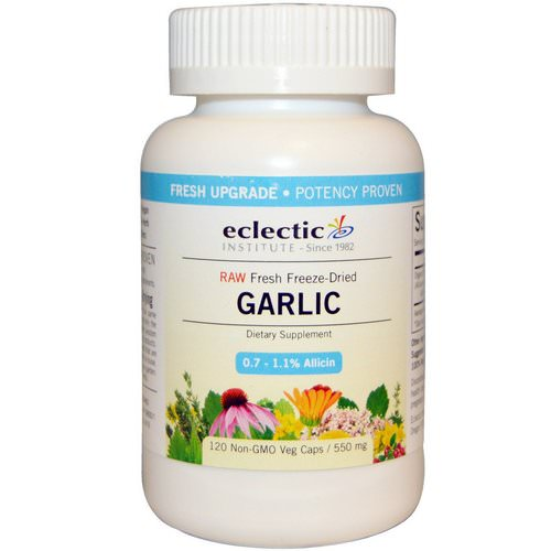 Eclectic Institute, Garlic, 550 mg, 120 Non-GMO Veggie Caps Review