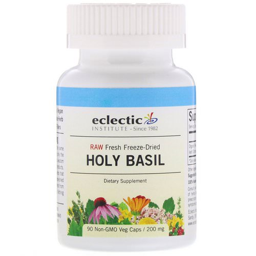 Eclectic Institute, Holy Basil, 200 mg, 90 Non-GMO Veg Caps Review