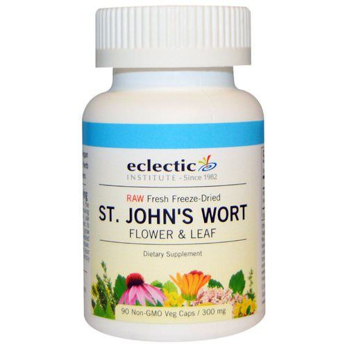 Eclectic Institute, St. John's Wort, 300 mg, 90 Non-GMO Veggie Caps Review