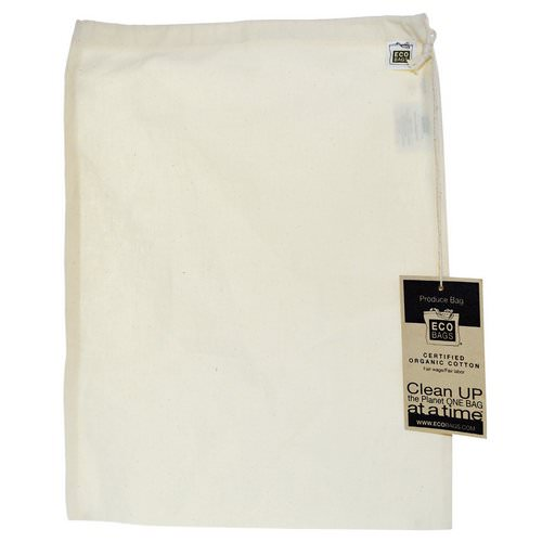 ECOBAGS, Organic Cotton Produce Bag, Large, 1 Bag, 12