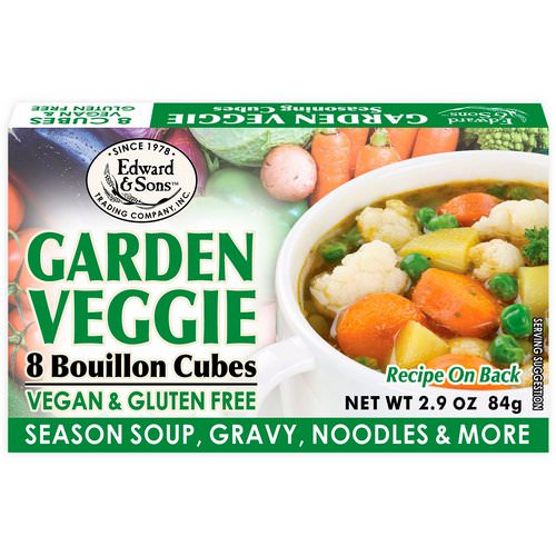 Edward & Sons, Garden Veggie, Bouillon Cubes, 8 Cubes Review