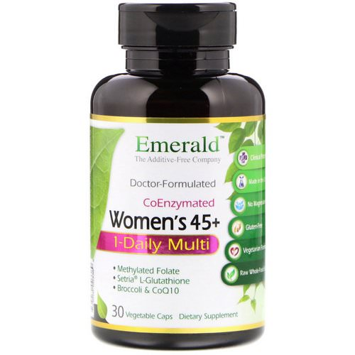 Emerald Laboratories, CoEnzymated Women's 45+ 1-Daily Multi, 30 Vegetable Caps Review