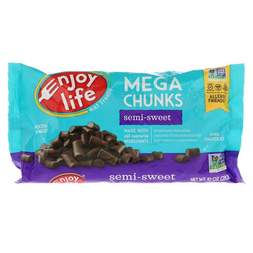 Enjoy Life Foods, Mega Chunks, Semi-Sweet Chocolate, 10 oz (283 g) Review