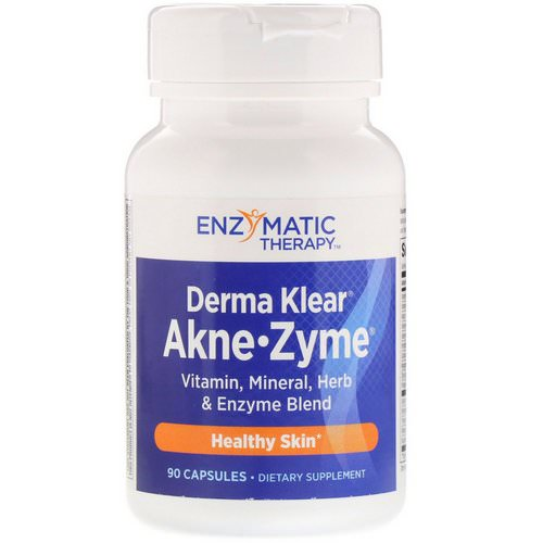 Nature's Way, Derma Klear Akne • Zyme, Healthy Skin, 90 Capsules Review