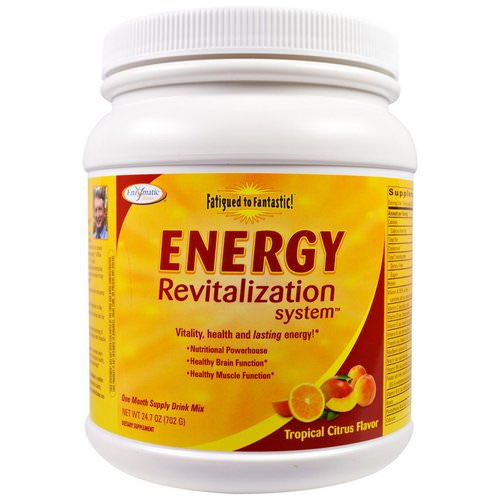 Enzymatic Therapy, Fatigued to Fantastic! Energy Revitalization System, Tropical Citrus Flavor, 1.5 lbs (702 g) Review