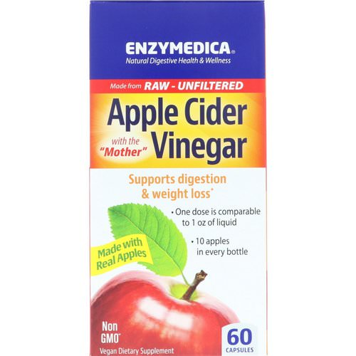 Enzymedica, Apple Cider Vinegar, 60 Capsules Review