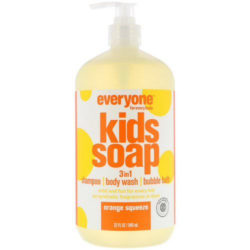 EO Products, Everyone for Every Body, Kids Soap, 3 in 1, Orange Squeeze, 32 fl oz (946 ml) Review