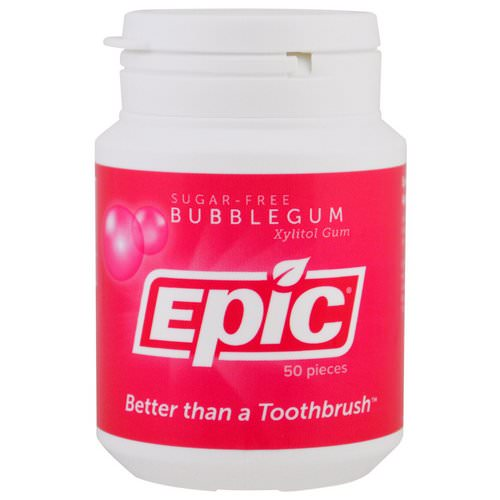 Epic Dental, Xylitol Gum, Sugar-Free, Bubblegum, 50 Pieces Review