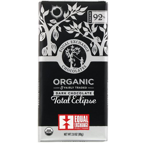 Equal Exchange, Organic Dark Chocolate, Total Eclipse, 2.8 oz (80 g) Review