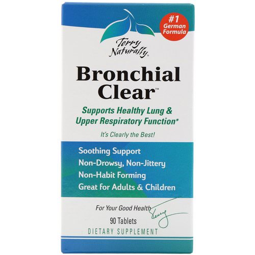 EuroPharma, Terry Naturally, Bronchial Clear, 90 Tablets Review