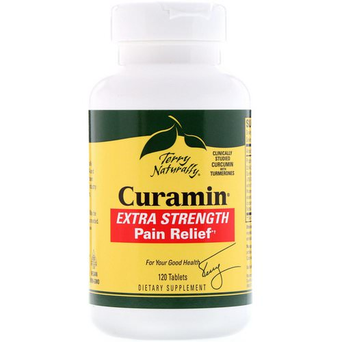 EuroPharma, Terry Naturally, Curamin, Extra Strength Pain Relief, 120 Tablets Review