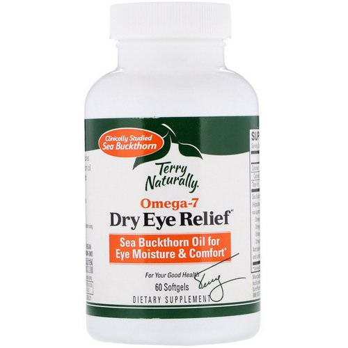 EuroPharma, Terry Naturally, Omega 7, Dry Eye Relief, 60 Softgels Review