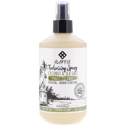 Alaffia, Everyday Coconut, Texturing Spray, Hydrating, Normal to Dry Hair, Coconut & Sea Salt, 12 fl oz (354 ml) Review