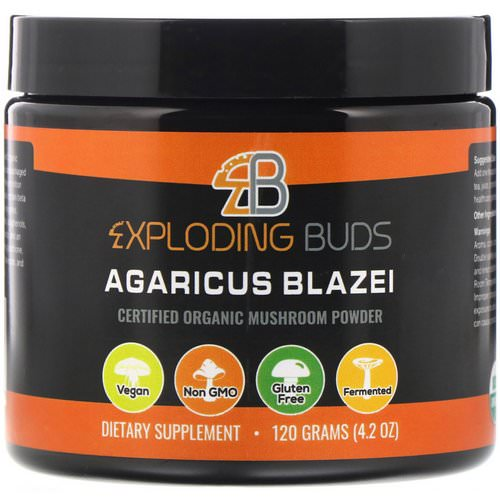Exploding Buds, Agaricus Blazei, Certified Organic Mushroom Powder, 4.2 oz (120 g) Review