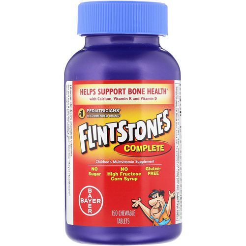 Flintstones, Complete, Children's Multivitamin Supplement, 150 Chewable Tablets Review
