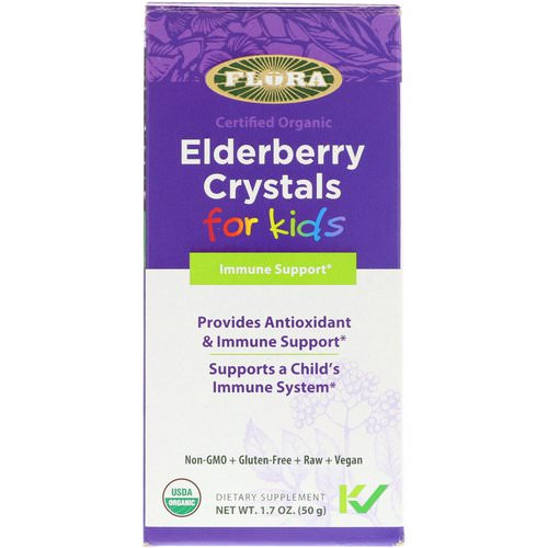 Flora, Certified Organic, Elderberry Crystals for Kids, 1.7 oz (50 g) Review