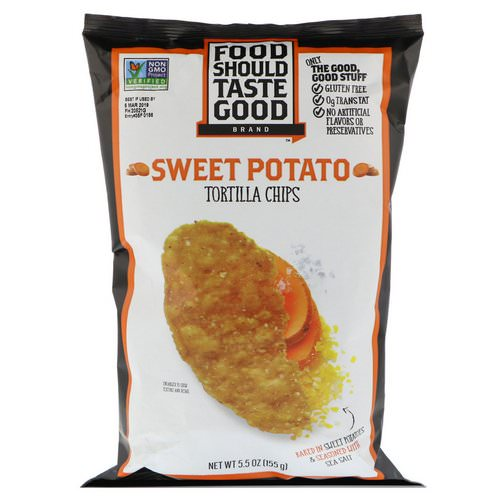 Food Should Taste Good, Tortilla Chips, Sweet Potato, 5.5 oz (155 g) Review