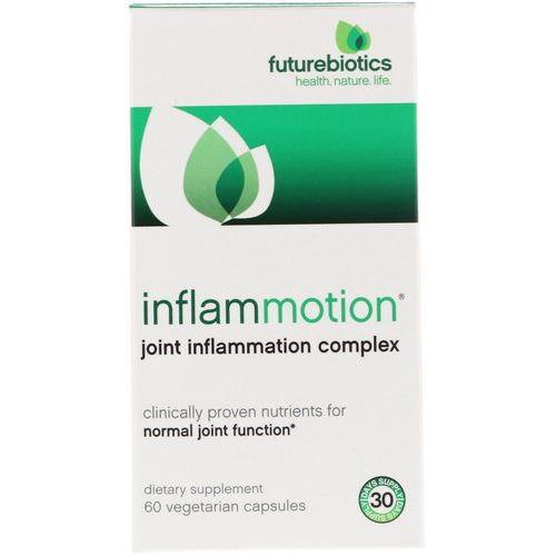 FutureBiotics, InflamMotion, Joint Inflammation Complex, 60 Vegetarian Capsules Review