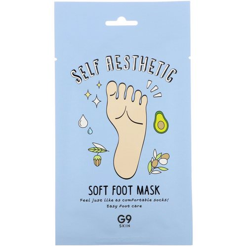 G9skin, Self Aesthetic, Soft Foot Mask, 5 Masks, 0.40 fl oz (12 ml) Review