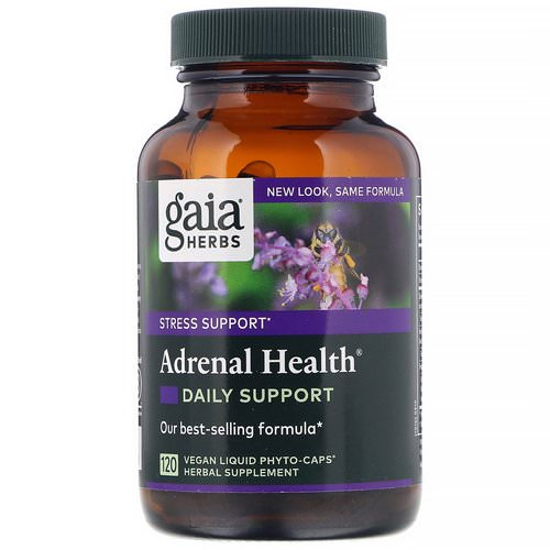 Gaia Herbs, Adrenal Health, Daily Support, 120 Vegan Liquid Phyto-Caps Review