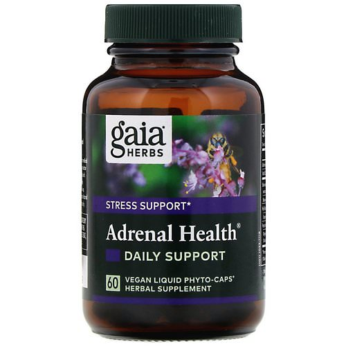Gaia Herbs, Adrenal Health, Daily Support, 60 Vegan Liquid Phyto-Caps Review