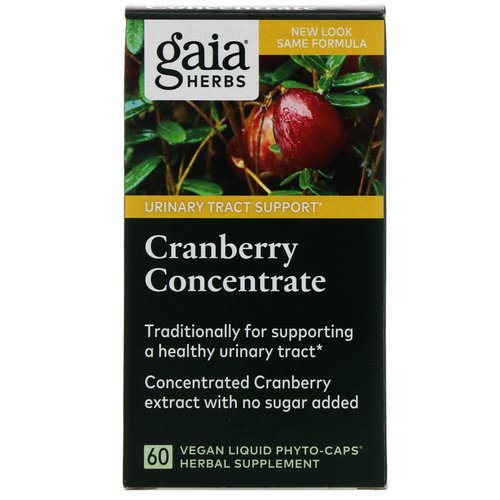 Gaia Herbs, Cranberry Concentrate, 60 Vegan Liquid Phyto-Caps Review