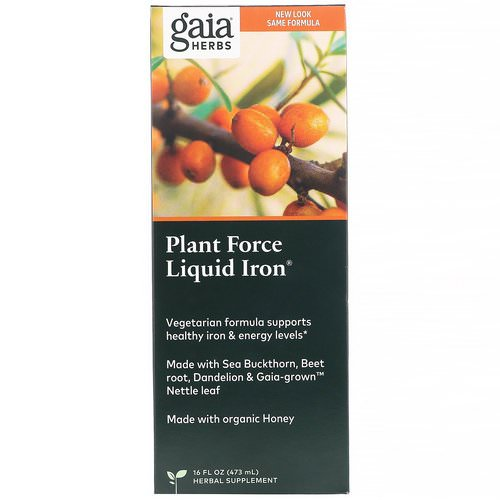 Gaia Herbs, Plant Force Liquid Iron, 16 fl oz (473 ml) Review