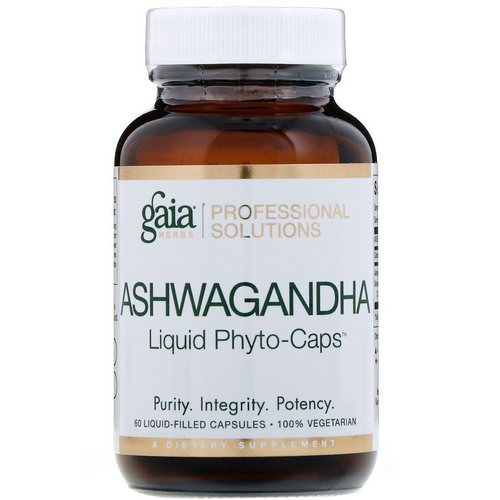 Gaia Herbs Professional Solutions, Ashwagandha, 60 Liquid-Filled Capsules Review