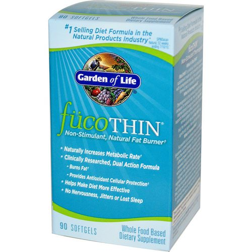 Garden of Life, FucoThin, Non-Stimulant, Natural Fat Burner, 90 Softgels Review