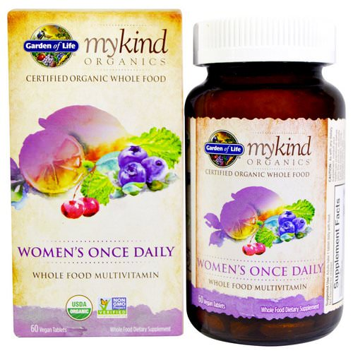 Garden of Life, MyKind Organics, Women's Once Daily, 60 Vegan Tablets Review