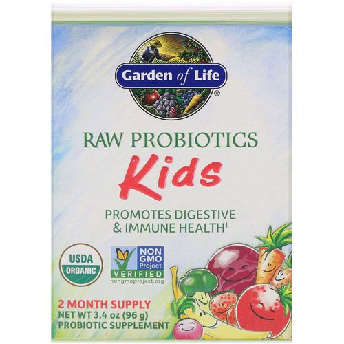 Garden of Life, RAW Probiotics, Kids, 3.4 oz (96 g) Review