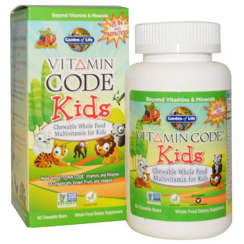 Garden of Life, Vitamin Code, Kids, Chewable Whole Food Multivitamin for Kids, Cherry Berry, 60 Chewable Bears Review