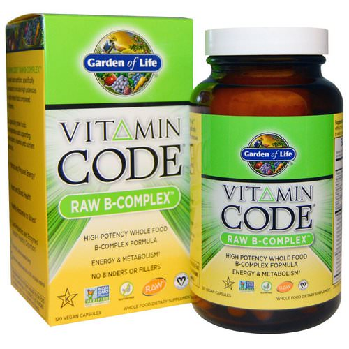 Garden of Life, Vitamin Code, Raw B-Complex, 120 Vegan Caps Review