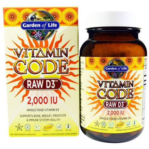 Garden of Life, Vitamin Code, Raw D3, 2,000 IU, 60 Vegetarian Capsules Review