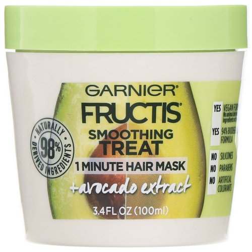 Garnier, Fructis, Smoothing Treat, 1 Minute Hair Mask + Avocado Extract, 3.4 fl oz (100 ml) Review