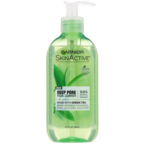 Garnier, SkinActive, Deep Pore Facial Cleanser with Green Tea, 6.7 fl oz (200 ml) Review