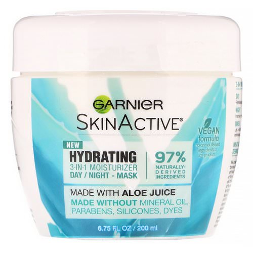 Garnier, SkinActive, Hydrating 3-in-1 Moisturizer with Aloe Juice, 6.75 fl oz (200 ml) Review