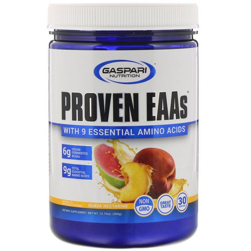 Gaspari Nutrition, Proven EAAs with 9 Essential Amino Acids, Guava Nectarine, 13.75 oz (390 g) Review